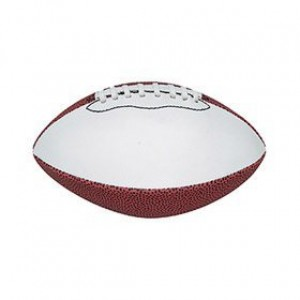 Signature Series 1 White Panel Generic Mini Football (Deflated)