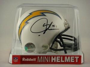 LaDainian Tomlinson Autographed San Diego Chargers Replica Mini Helmet