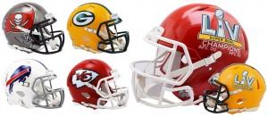 Limited Edition Kansas City Chiefs NFL Super Bowl 55 Champions NEW 2021 Riddell Mini Speed Helmet