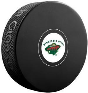 InGlasCo NHL Minnesota Wild Autograph Souvenir Ice Hockey Puck