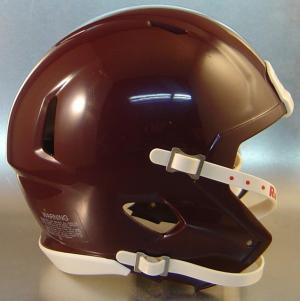 Riddell Maroon Blank Customizable Speed Mini Football Helmet Shell
