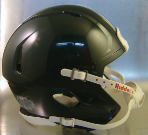 Riddell Dark Green Blank Customizable Speed Mini Football Helmet Shell