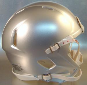 Riddell Bay Silver Blank Customizable Speed Mini Football Helmet Shell