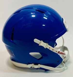 Riddell Royal Blue Blank Customizable Speed Mini Football Helmet Shell