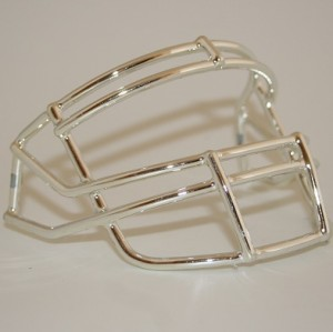 Schutt Silver Chrome Customizable XP Authentic Mini Football Facemask