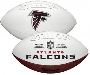 Atlanta Falcons White Wilson Official Size Autograph Series Signature Football