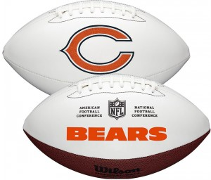 Chicago Bears White Wilson Official Size Autograph Series Signature Football
