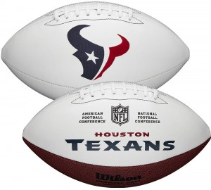 Houston Texans White Wilson Official Size Autograph Series Signature Football