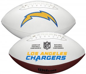 Los Angeles Chargers White Wilson Official Size Autograph Series Signature Football