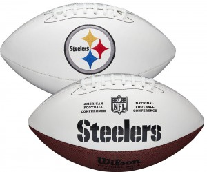 Pittsburgh Steelers White Wilson Official Size Autograph Series Signature Football