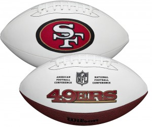 San Francisco 49ers White Wilson Official Size Autograph Series Signature Football
