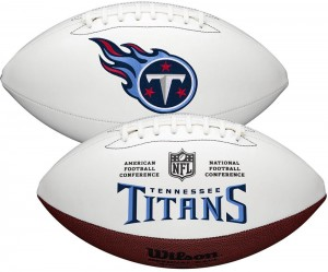 Tennessee Titans White Wilson Official Size Autograph Series Signature Football