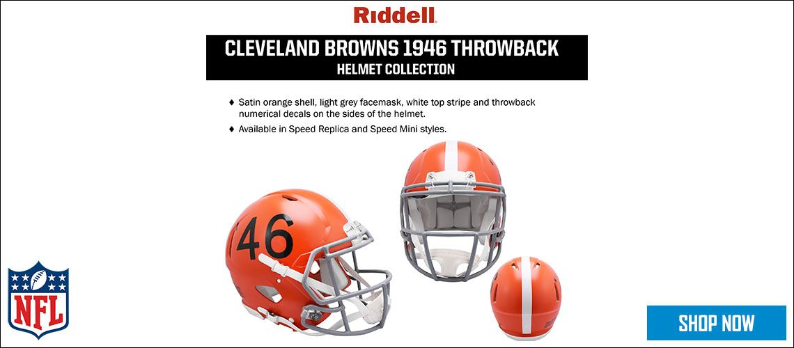 Cleveland Browns 1946 Throwback Helmet Collection