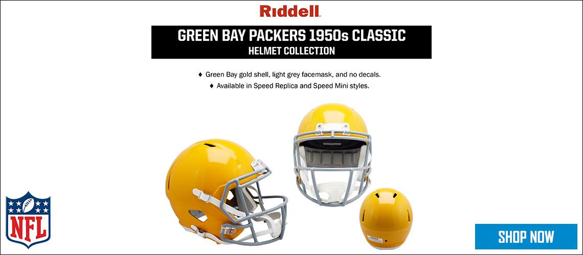 Green Bay Packers 1950s Classic Helmet Collection