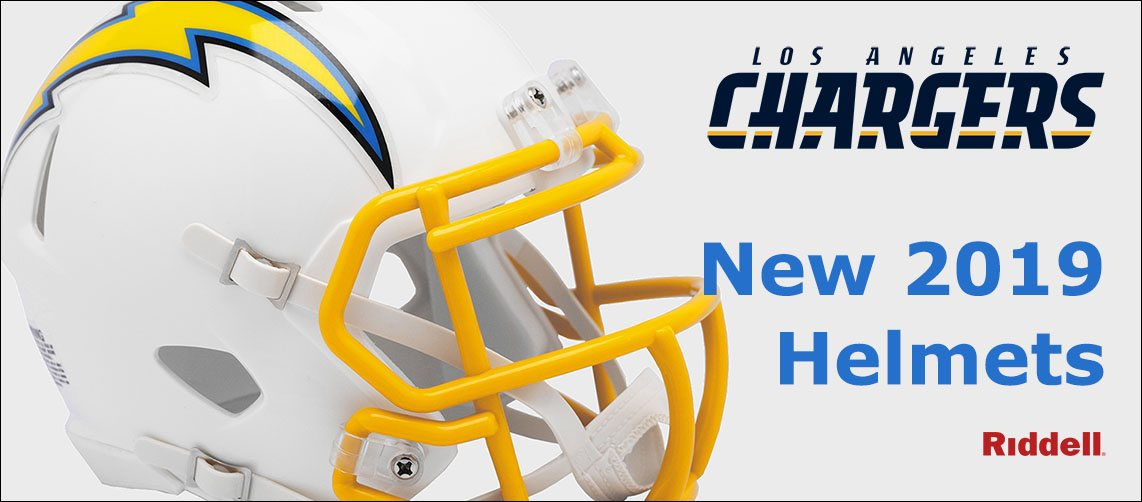 Los Angeles Chargers New 2019 Helmets