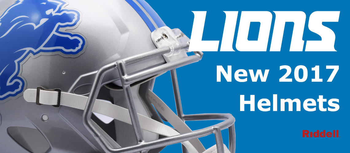 Detroit Lions New 2017 Helmets